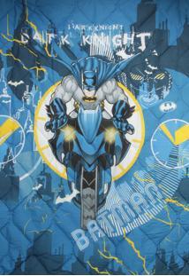 Edredom Infantil Lepper Kids Batman Azul