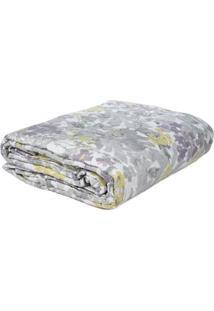 Jogo De Colcha Casal Com Porta Travesseiro Corttex Cinza