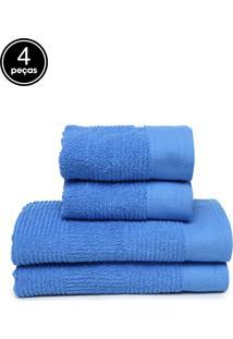 Jogo De Banho 4Pçs Buddemeyer Riviera Azul