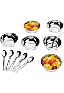 Conjunto Para Sobremesa Jornata Em Aço Inox 12 Pcs - Brinox