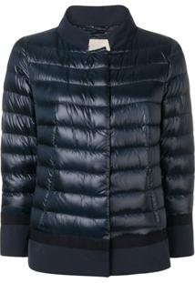 Herno Contrast Border Puffer Jacket - Azul