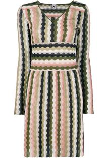 M Missoni Long-Sleeve Mini Dress - Rosa