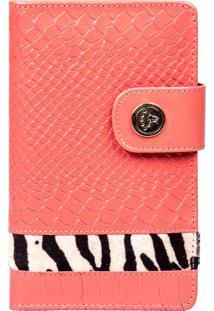 Carteira Artlux Animal Print Coral