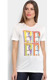 Camiseta Carmim Lobos Feminina - Feminino-Off White