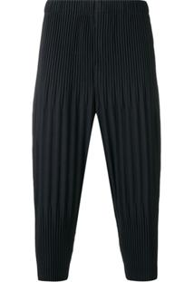 Homme Plissé Issey Miyake Pleated Drop Crotch Trousers - Azul