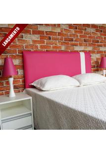 Cabeceira Ozel Corino Rosa Com Branco Queen 160X60 - Lançamento Rbl