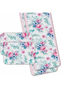 Jogo Americano Love Decor Wevans Com Caminho De Mesa Premium Floral - Kanui