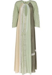Masterpeace Vestido Com Recorte De Renda - Verde