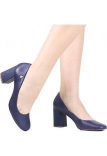 Sapato Loucos E Santos Scarpin Salto Feminino - Feminino-Azul