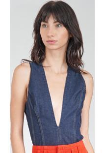 Body Jeans Colcci Azul - Azul - Feminino - Algodã£O - Dafiti