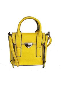 Bolsa Mini Tote Com Flop Amarelo