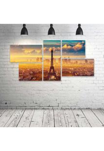 Quadro Decorativo - Torre-Eiffel-(6) - Composto De 5 Quadros