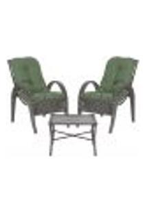 Jogo Cadeiras 2Un E Mesa P/ Jardim Edicula Varanda Descanso Trama Napoli Plus Tabaco A30