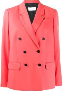 Calvin Klein Blazer Com Abotoamento Duplo - Rosa