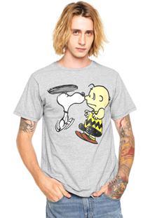 Camiseta Snoopy Kiss Cinza