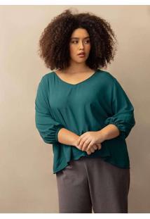 Blusa Ivana Plus Size Verde Escuro-Gg Verde