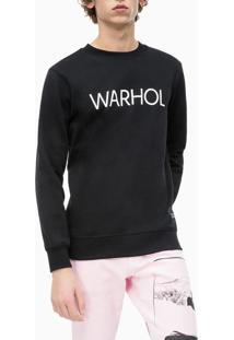 Casaco Ckj Masc Ml Andy Warhol Logo - Preto - P