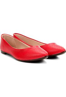 Sapatilha Moleca Básica Furinhos Feminina - Feminino-Vermelho