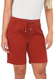 Bermuda Jeans Bloom Jogger Terra Feminina - Feminino-Marrom