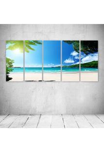 Quadro Decorativo - Praia Paraiso - Composto De 5 Quadros