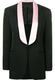 Calvin Klein 205W39Nyc Blazer De Alfaiataria - Preto