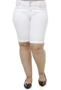 Bermuda Jeans Feminina Plus Size - Feminino