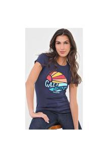 Camiseta Aeropostale Cali Surf Azul-Marinho