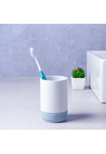 Porta Escova De Dente Para Bancada Banco E Azul Yang Coisas E Coisinhas