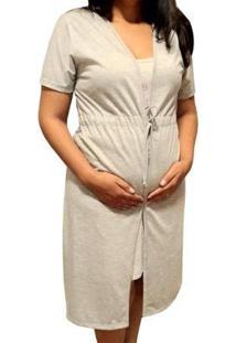 Robe Avulso Linda Gestante Para Levar Na Maternidade Manga Curta Feminino - Feminino