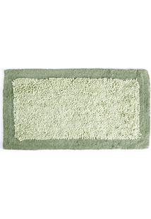 Tapete De Algodão Chenille 50Cm X 80Cm Verde