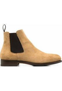 Scarosso Ankle-Length Suede Boots - Neutro