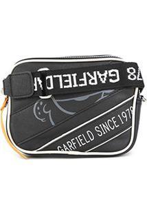 Bolsa Semax Mini Bag Transversal Garfield Feminina - Feminino-Preto