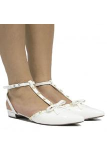 Sapatilha De Noivas Zariff Shoes Verniz Laço