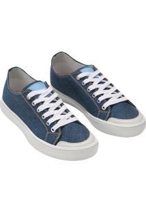 Tenis Ckj Masc Jeans Cano Baixo Skate - Azul Royal - 39