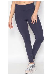 Body For Sure Legging Lisa Com Recortes Azul Marinho
