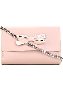 Bolsa Sweetchic Mini Bag Firenze Alça Corrente Feminina - Feminino-Nude