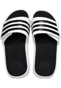 Chinelo Adidas Adissage Tnd Branco E Preto