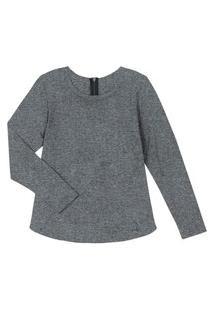 Blusão Plus Size Feminino De Viscose Rovitex Plus Cinza