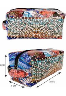 Necessaire Feminina Casual Mosaico, Magicc