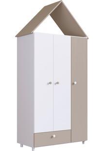 Guarda-Roupa Infantil Children'S House 3 Pt 1 Gv Branco