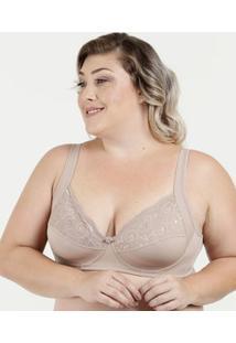 Sutiã Feminino Com Base Renda Plus Size Dilady