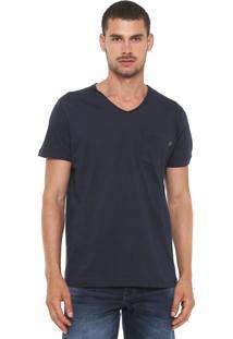 Camiseta Triton Bolso Azul-Marinho