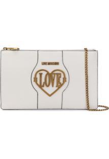 Love Moschino Bolsa Tiracolo Em Formato De Coração - Branco