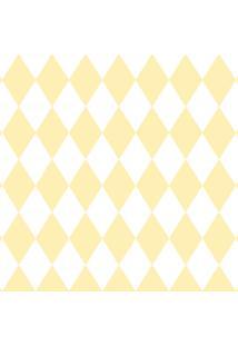 Papel De Parede Lymdecor Losango Amarelo