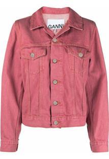 Ganni Washed Denim Jacket - Rosa