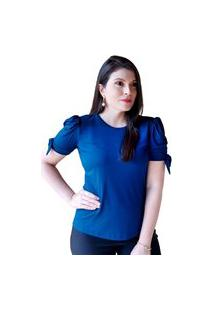 Blusa Madalih Manga Bufante Princesa Azul