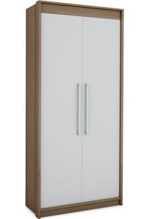 Guarda-Roupa Closet Modulado Vegas 2 Pt Ipê E Branco