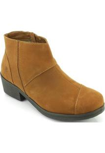 Bota New Face Fashion Salto Feminino - Feminino-Marrom