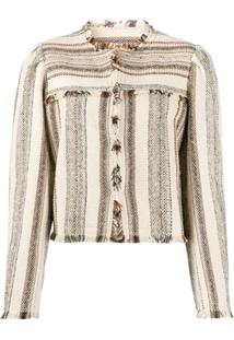 Isabel Marant Étoile Striped Cropped Jacket - Neutro