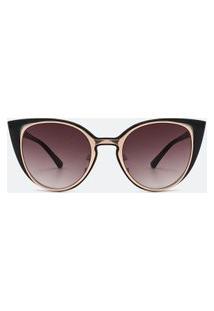 Óculos De Sol Feminino Modelo Gateado | Accessories | Preto | U